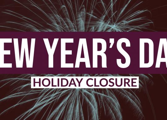 New Year's Day Closure