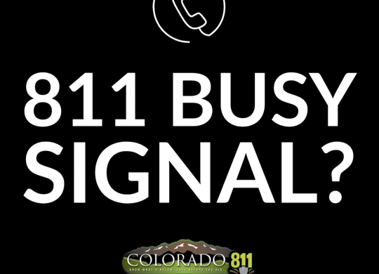 811 Busy Signal Pop Up